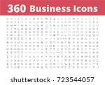 360 business icons | Shutterstock .eps vector #723544057