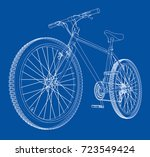 bicycle. vector rendering of 3d.... | Shutterstock .eps vector #723549424
