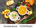 concept of healthy vegetable... | Shutterstock . vector #723549664