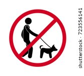 prohibiting sign you can not... | Shutterstock .eps vector #723556141