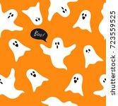 halloween ghosts seamless... | Shutterstock .eps vector #723559525