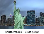 manhattan skyline and the... | Shutterstock . vector #72356350