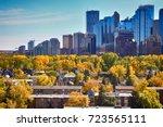 downtown. calgary. alberta.... | Shutterstock . vector #723565111