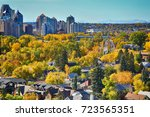 downtown. calgary. alberta.... | Shutterstock . vector #723565351