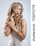 studio portrait of girl of... | Shutterstock . vector #723572779