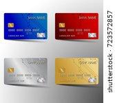 modern credit card set template ... | Shutterstock .eps vector #723572857
