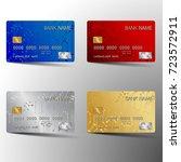 modern credit card set template ... | Shutterstock .eps vector #723572911
