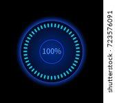 blue round progress circle....