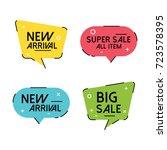 trend flat vector bubbles  sale ... | Shutterstock .eps vector #723578395
