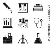scientific director icons set.... | Shutterstock .eps vector #723580729