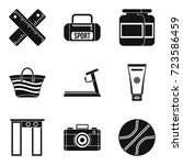 inspection icons set. simple...   Shutterstock .eps vector #723586459