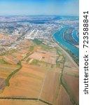 bird eye view on belgrade ... | Shutterstock . vector #723588841