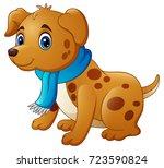 vector illustration of cartoon... | Shutterstock .eps vector #723590824