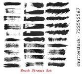 grungy brush strokes set over... | Shutterstock .eps vector #723592567