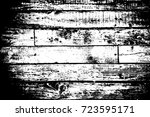 distress dry wooden overlay... | Shutterstock .eps vector #723595171