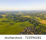 aerial view of a small town in... | Shutterstock . vector #723596281