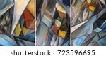 hand drawn oil painting  ...   Shutterstock . vector #723596695
