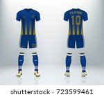 3d realistic of font and back... | Shutterstock .eps vector #723599461