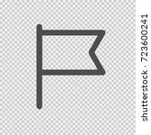 flag vector icon eps 10. simple ... | Shutterstock .eps vector #723600241