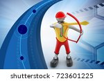 3d illustration of  person aim... | Shutterstock . vector #723601225