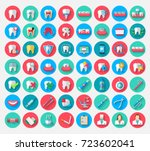 dentistry icons isolated in a... | Shutterstock .eps vector #723602041
