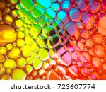 soap bubbles on a colourful... | Shutterstock . vector #723607774