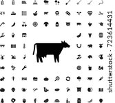 cow icon. set of filled... | Shutterstock .eps vector #723614431