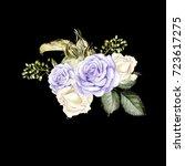 beautiful bright watercolor...   Shutterstock . vector #723617275