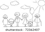 happy family holding hands hand ... | Shutterstock .eps vector #72362407