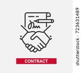 contract   modern vector single ... | Shutterstock .eps vector #723631489