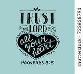 hand lettering trust in the... | Shutterstock .eps vector #723638791