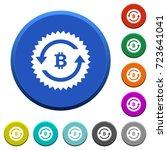 bitcoin pay back guarantee... | Shutterstock .eps vector #723641041