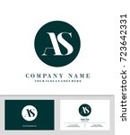 business card and initial a   s ... | Shutterstock .eps vector #723642331