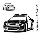 police car vector | Shutterstock .eps vector #723646351