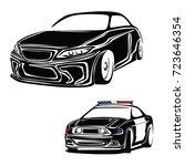 police car vector | Shutterstock .eps vector #723646354