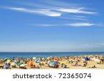 Crowded Atlantic Summer Beach...