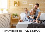 happy family mother  father and ... | Shutterstock . vector #723652909