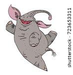 dancing elephant cartoon image. ...   Shutterstock .eps vector #723653311