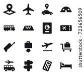 16 vector icon set   pointer ...   Shutterstock .eps vector #723656509