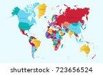 color world map | Shutterstock .eps vector #723656524