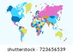 color world map | Shutterstock .eps vector #723656539