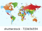 color world map | Shutterstock .eps vector #723656554