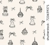 vector seamless pattern. pen... | Shutterstock .eps vector #723659371