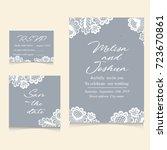 templates of invitation lace... | Shutterstock . vector #723670861