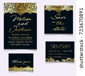 templates of invitation lace... | Shutterstock . vector #723670891