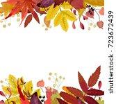 Autumn Season Vector Floral...