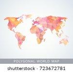 polygonal world map for... | Shutterstock .eps vector #723672781