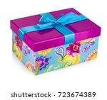 Gift Box Isolated On White...