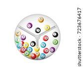 3d rendering of lottery machine ... | Shutterstock .eps vector #723676417