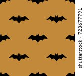 vector pattern with bats.... | Shutterstock .eps vector #723677791
